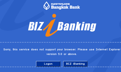 Bangkok Bank supports IE only